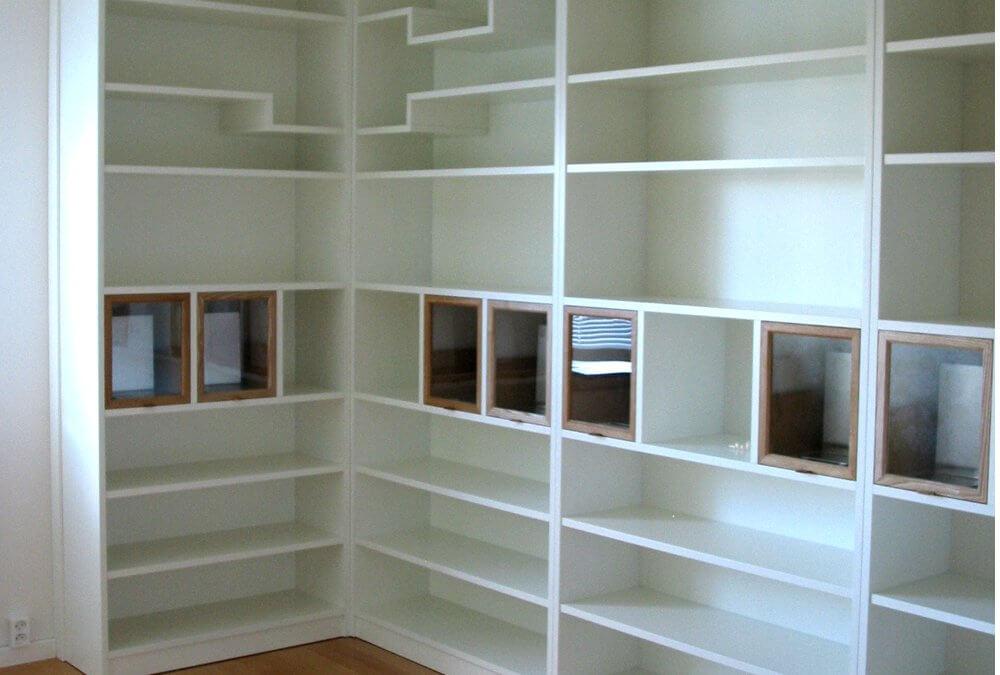 Bokhylla i 5 sektioner